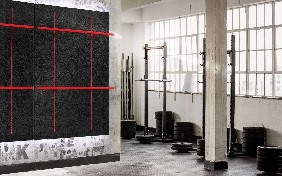 Wall System <p><strong>Wall elements with rack system</strong></p> <p>Wall elements with rack system / panel in mdf black / racks and crossbars in metal paited flery red</p>