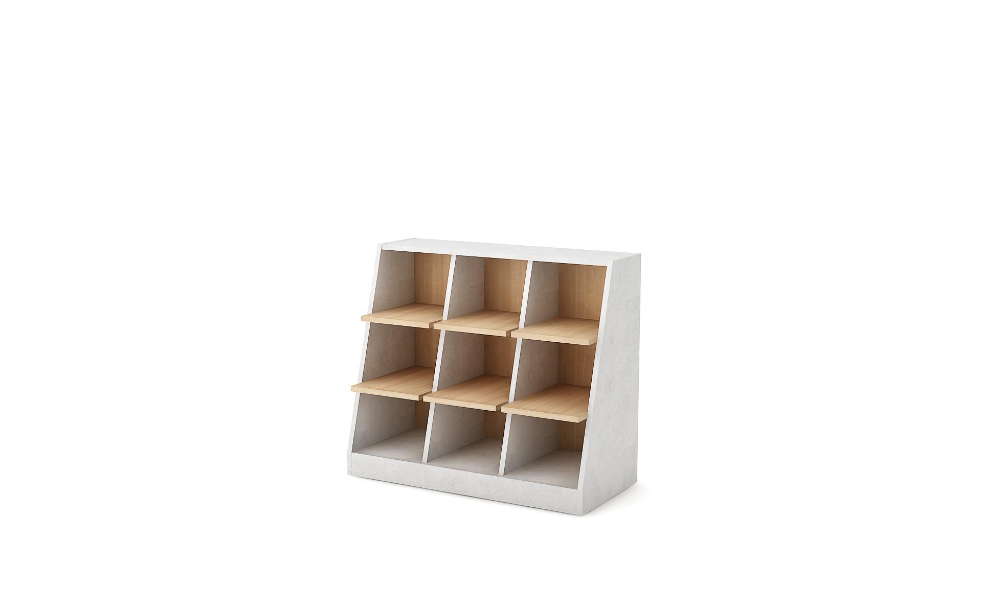 Sloping shelving unit Zero image 2