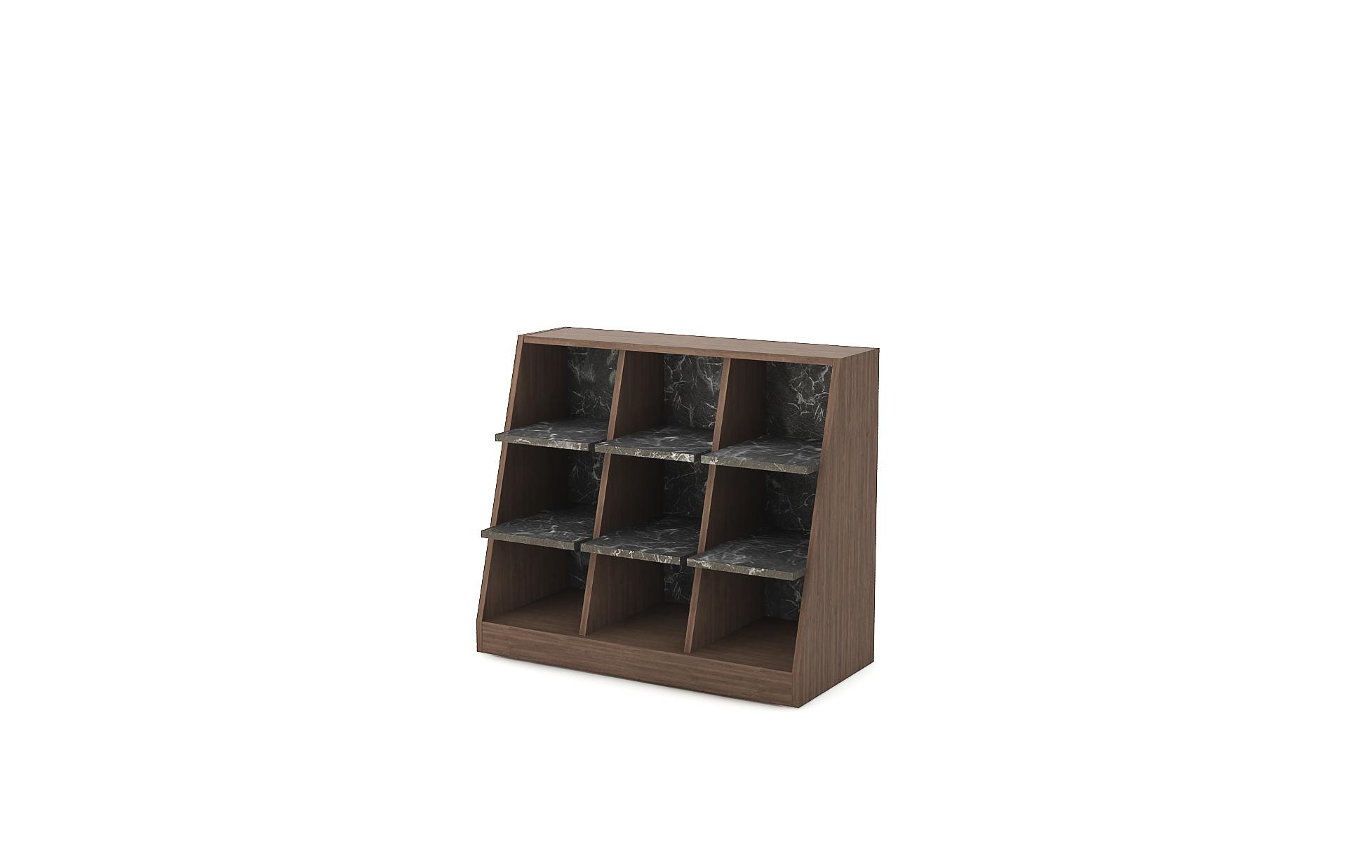 Sloping shelving unit Zero image 1