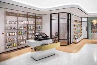 arredamento farmacia banco personalizzato beauty